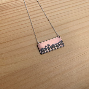 San Diego California skyline necklace