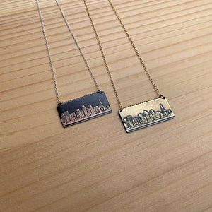San Francisco California skyline necklace