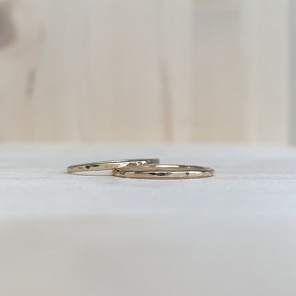 hammered gold fill rings