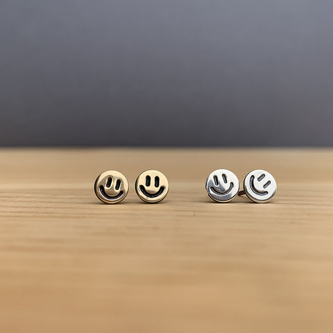 smiley face earrings jaci riley jewelry