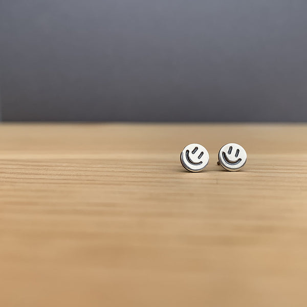 sterling silver smiley face earrings jaci riley jewelry