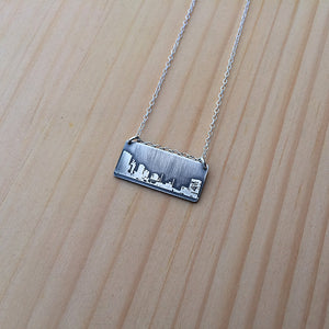Toledo Ohio skyline necklace