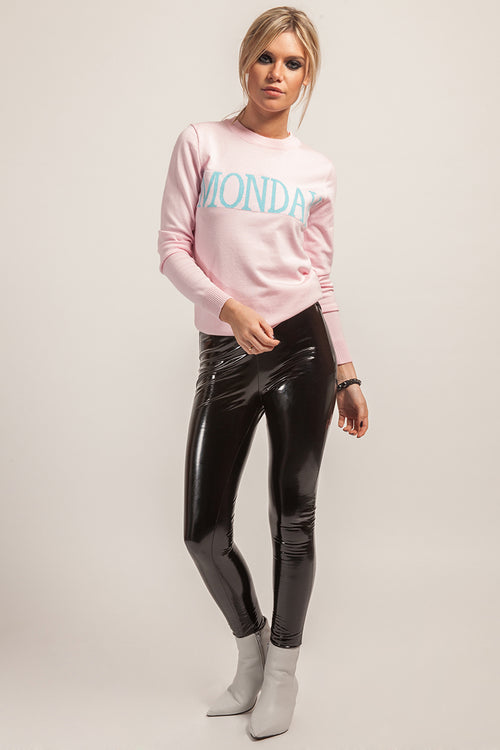 'Monday' Knitted Light Pink Jumper