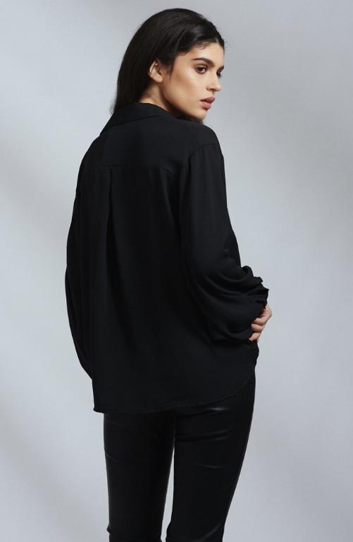 Black Floaty Oversized Shirt