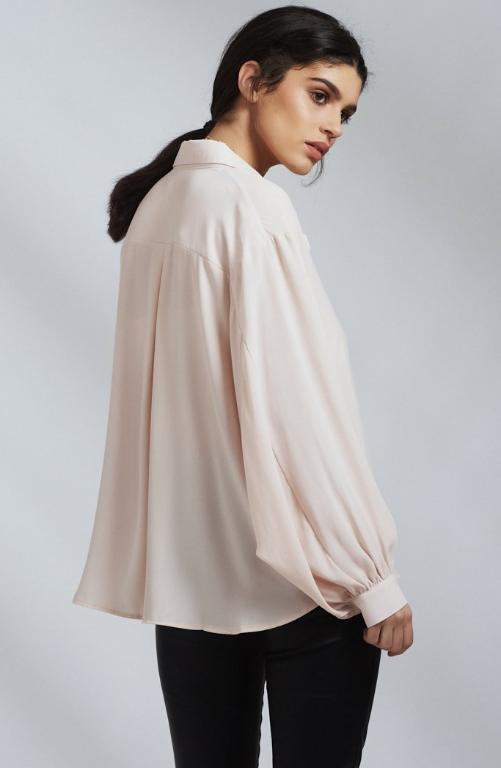 Nude Pink Floaty Oversized Shirt