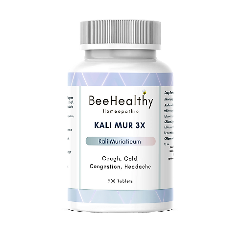 Kali Mur 3x, 6x, 12x, 30x, 200x - Homeopathic  Schuessler's Tissue Salts. BeeHealthy Homeopathic. Natural remedies