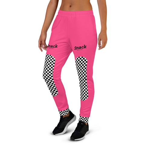 Neon Checkered Women's Sweatpants | Neon Pink
