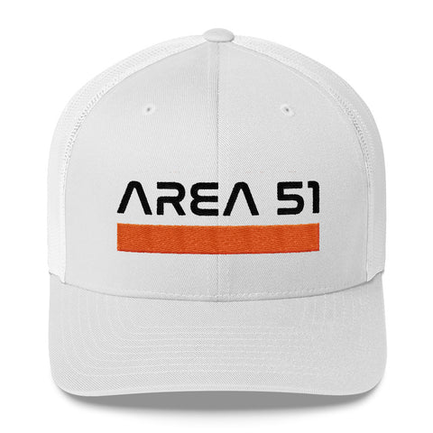 Area 51 Nasa Trucker Hat | White