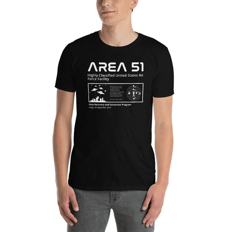 Storm Area 51 Raid Shirt, Alien Recovery and Extraction Program | Black