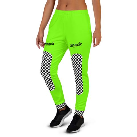 Neon Checkered Women's Sweatpants | Neon Green