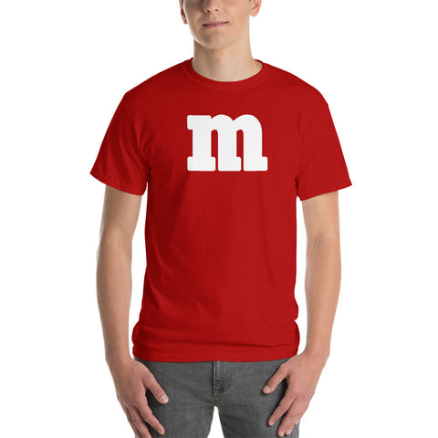 Chocolate M's Candy Costume Adult Unisex Short Sleeve Shirt