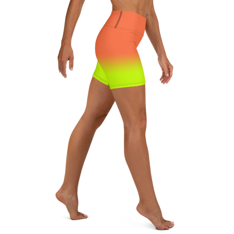 Neon Ultra Women's High Waist Shorts | Neon Orange