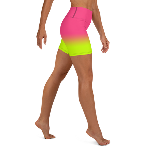 Neon Ultra Women's High Waist Shorts | Neon Pink