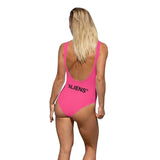 Sexy Neon Pink Storm Area 51 Inflatable Alien Adult One Piece Bodysuit Swimsuit