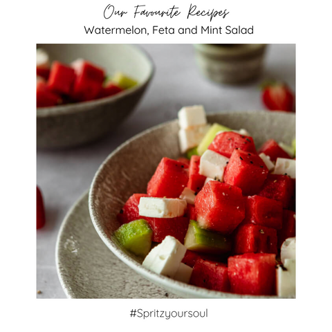 Watermelon and mind salade