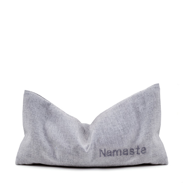 Aromatherapy Eye Pillow - 100% Soft Cotton Grey NAMASTE