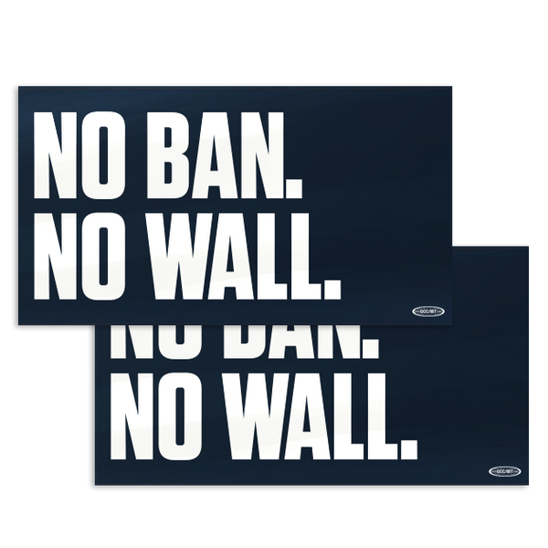 No Ban No Wall Sticker Combo