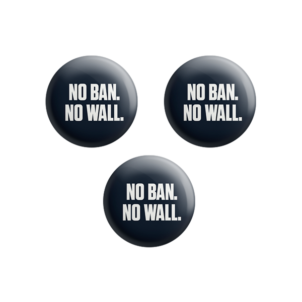 No Ban No Wall Button Set