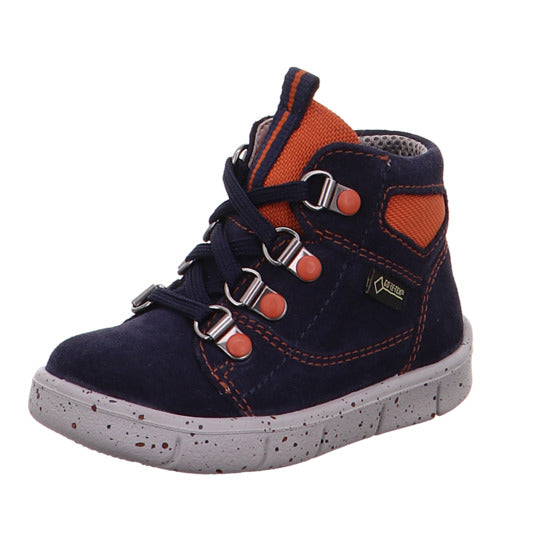 Blau/Ulli Navy/Rust Gore-Tex High Top Boots