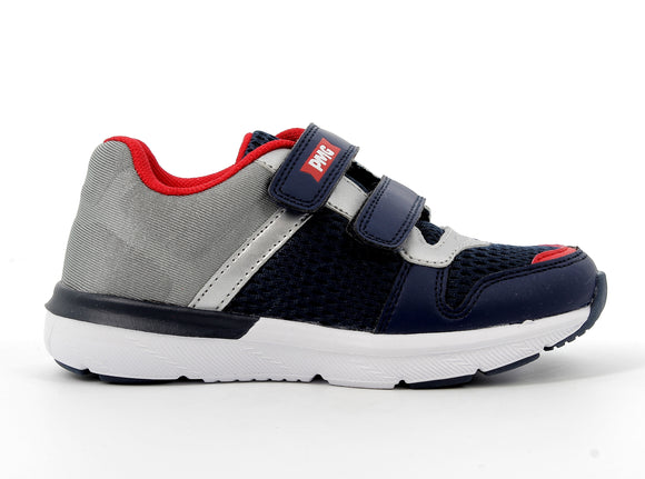 Pablo Navy/Silver/Red Trainers