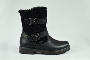 Vit.Old/Black Gore-Tex Ankle Boot With 2 Buckles