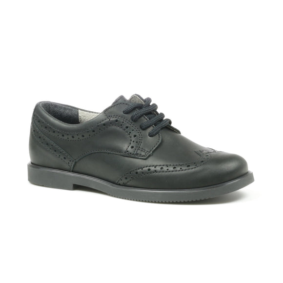 'GEORGIA' Black Leather Lace Up Brogue