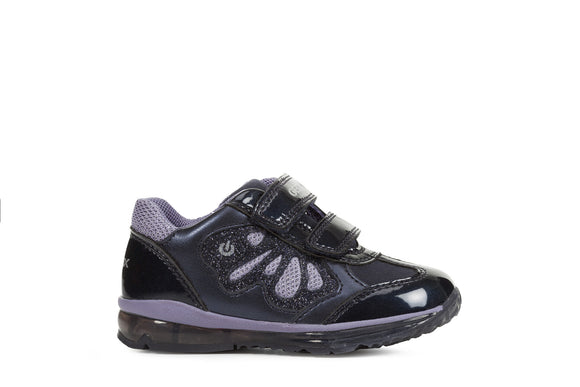 Todo Navy/Lilac Light-Up Trainers