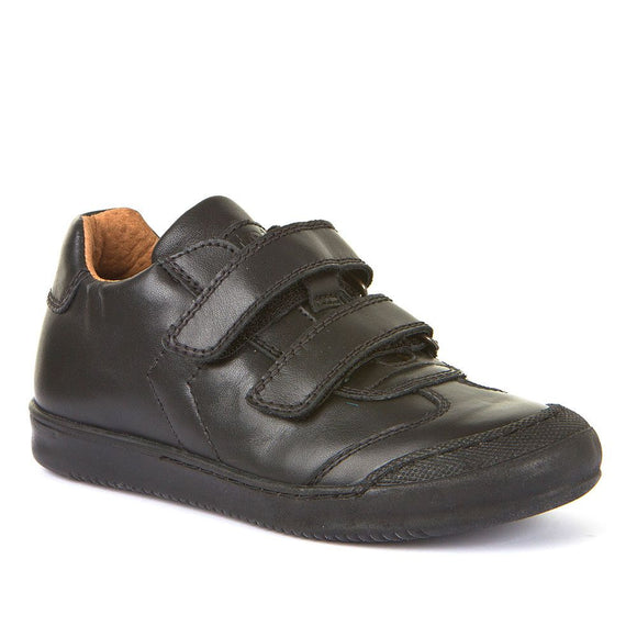 Mason Black Leather School Shoes
