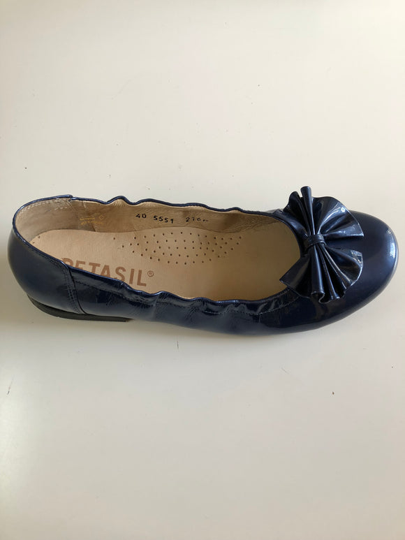 Lily Petrol Blue Patent