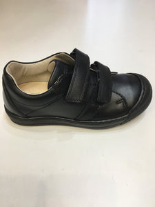 Boys double velcro school shoes