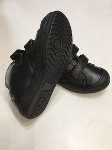Boys double velcro school shoe