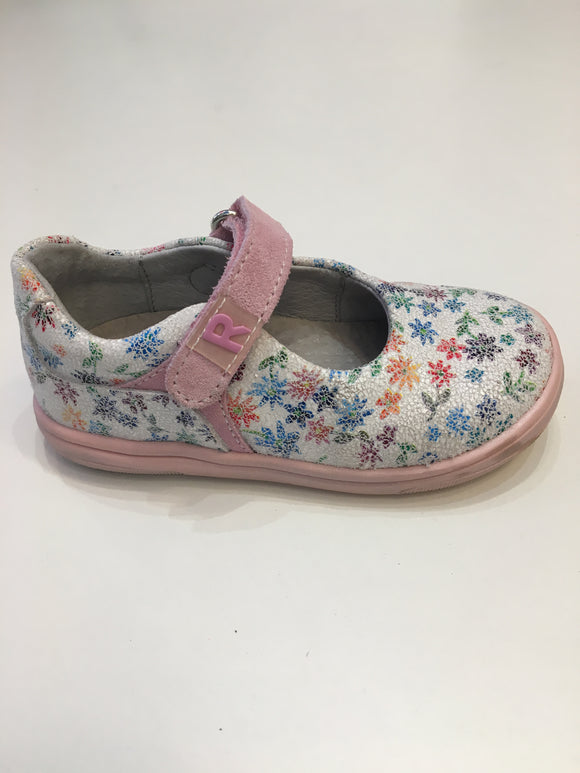 Velourdruck/powder girls shoe