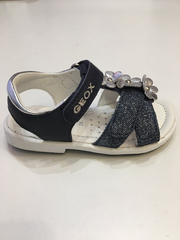 Verred Navy/silver sandals