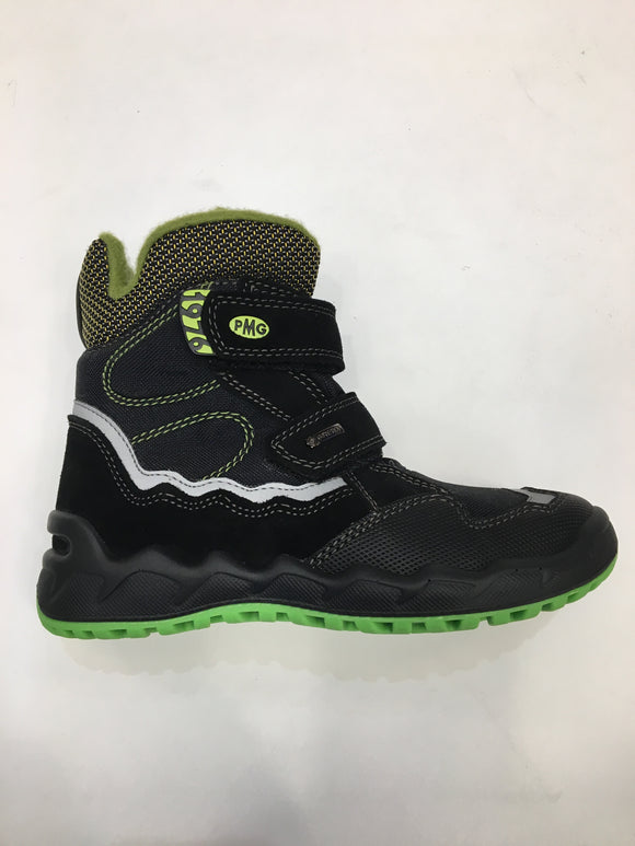 Scam/tecn/gomma black/green boys gortex boots