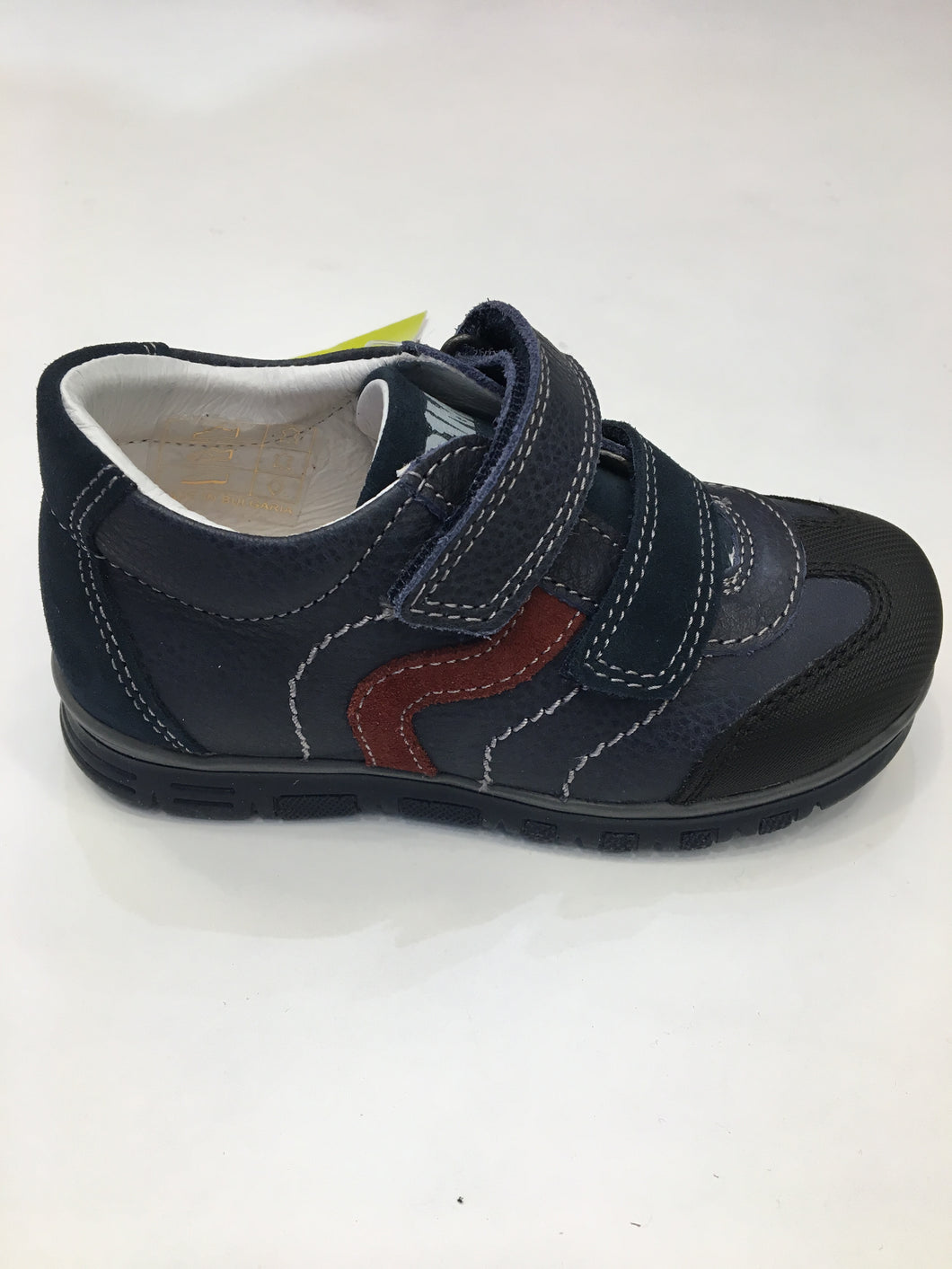 Vitello old/ blue boys shoe boot