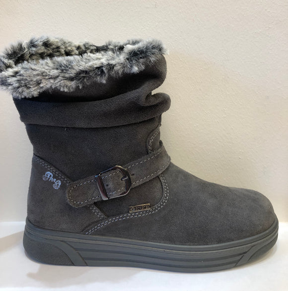 Grace Grey Suede Waterproof Boot