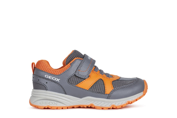 J Bernie Anthracite/Orange Trainers