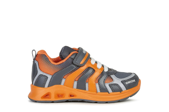 J Dakin Dark Grey/Orange Light up Trainers