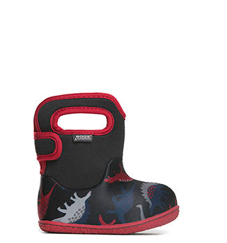 Baby Bogs Dino Black/red multi