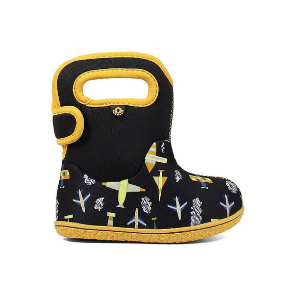 Baby Bogs Plane in Black/Yellow Boots
