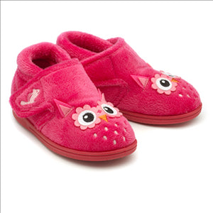 Olive Bright Pink Slippers