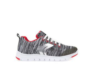 Xundy Woven Lt grey/Red Boys Trainer
