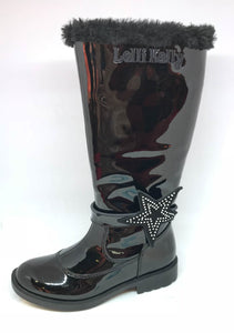 Marion High Black Patent Boots