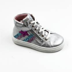 Silver Hi-top with side star