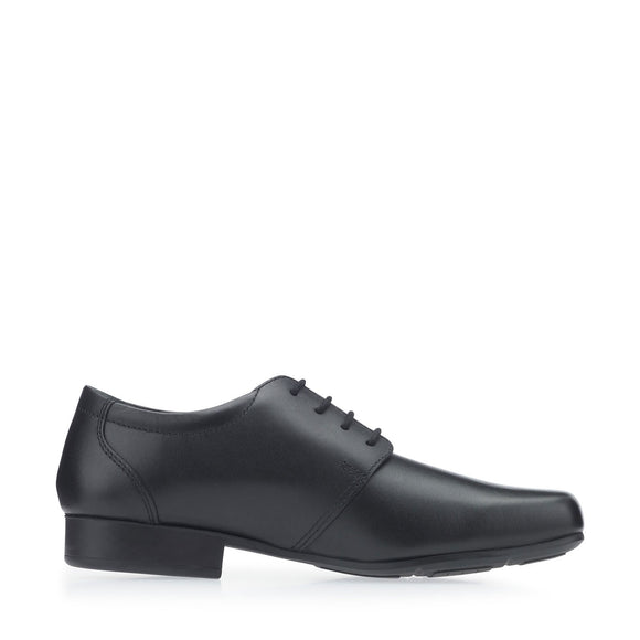 Theo Black Leather Shoes G Width