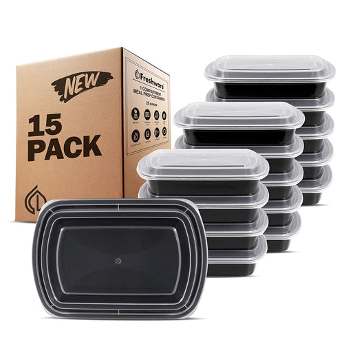 15 Pack Meal Prep Containers