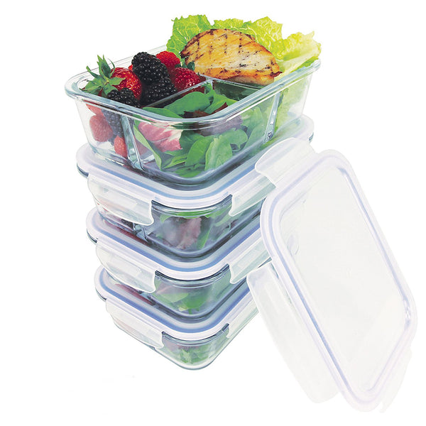 4X Glass Meal Prep Containers