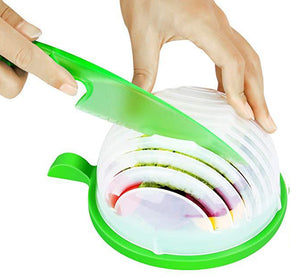 MealPrep Salad Cutter Bowl with Lettuce Knife
