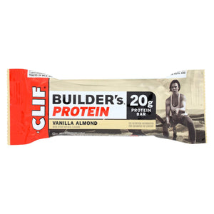 Clif Bar Builder Bar - Vanilla Almond - Case Of 12 - 2.4 Oz - Vita-Shoppe.com