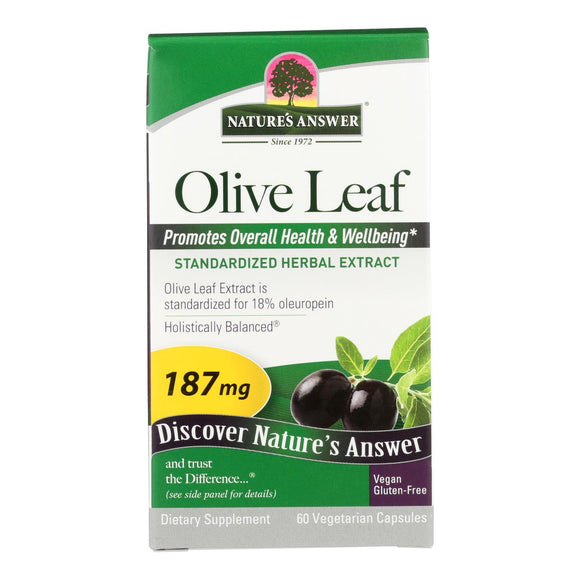 Nature's Answer - Oleopein Olive Leaf Extract - 60 Vegetarian Capsules - Vita-Shoppe.com